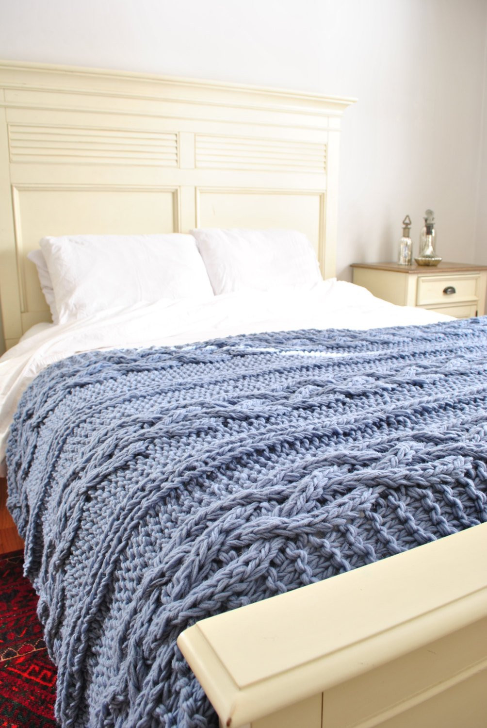 Cable Knit Blanket Lovely Chunky Cable Knit Blanket In Light Blue Cabled by Of Incredible 49 Pictures Cable Knit Blanket