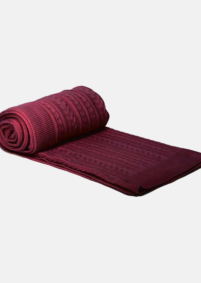 Cable Knit Throw Elegant Cable Knit Throw Blanket 150×200 Burgundy — Size M Color Of Charming 49 Models Cable Knit Throw