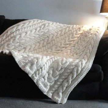 Cable Knit Throw New Best Chunky Cable Knit Blanket Products On Wanelo Of Charming 49 Models Cable Knit Throw