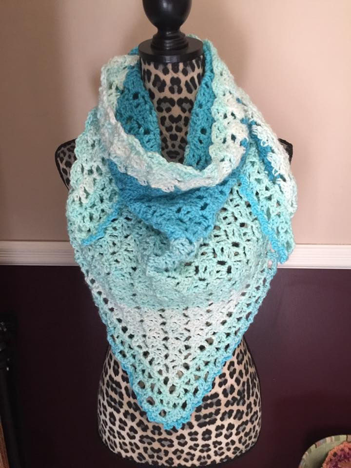 fortune s shawl by Moogly done in Caron Cakes