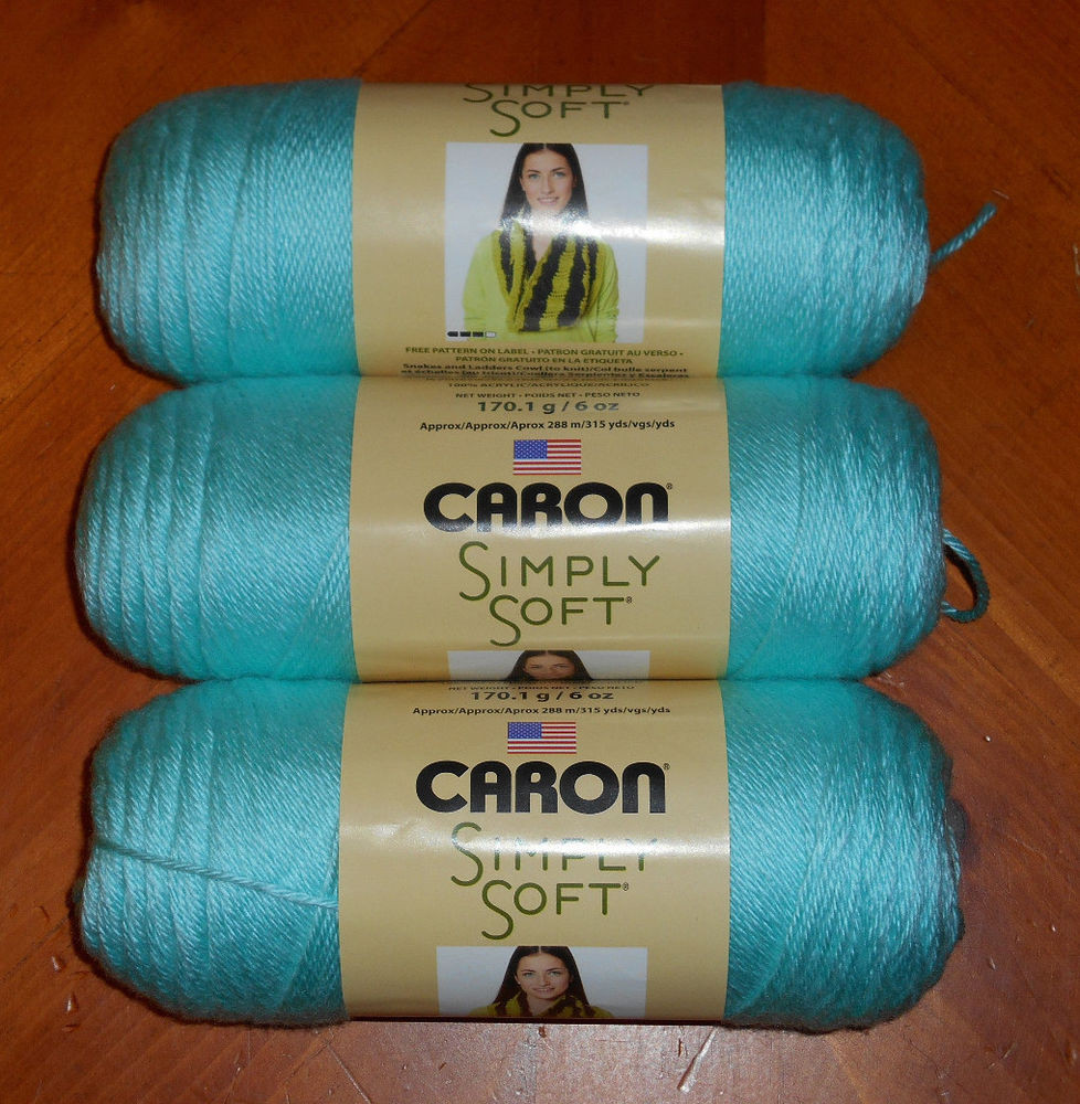 Caron Simply soft Luxury Caron Simply soft Yarn Lot 3 Skeins Robin S Egg 9780 Of Amazing 46 Images Caron Simply soft