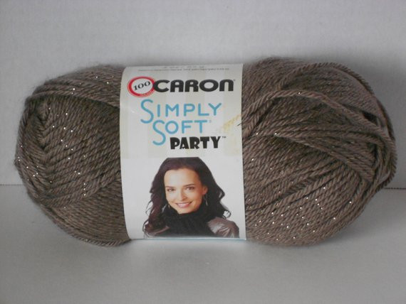 e skein of caron simply soft party chocolate sparkle yarn 4