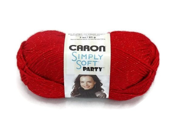 Caron Simply Soft Party 0015 Red Sparkle