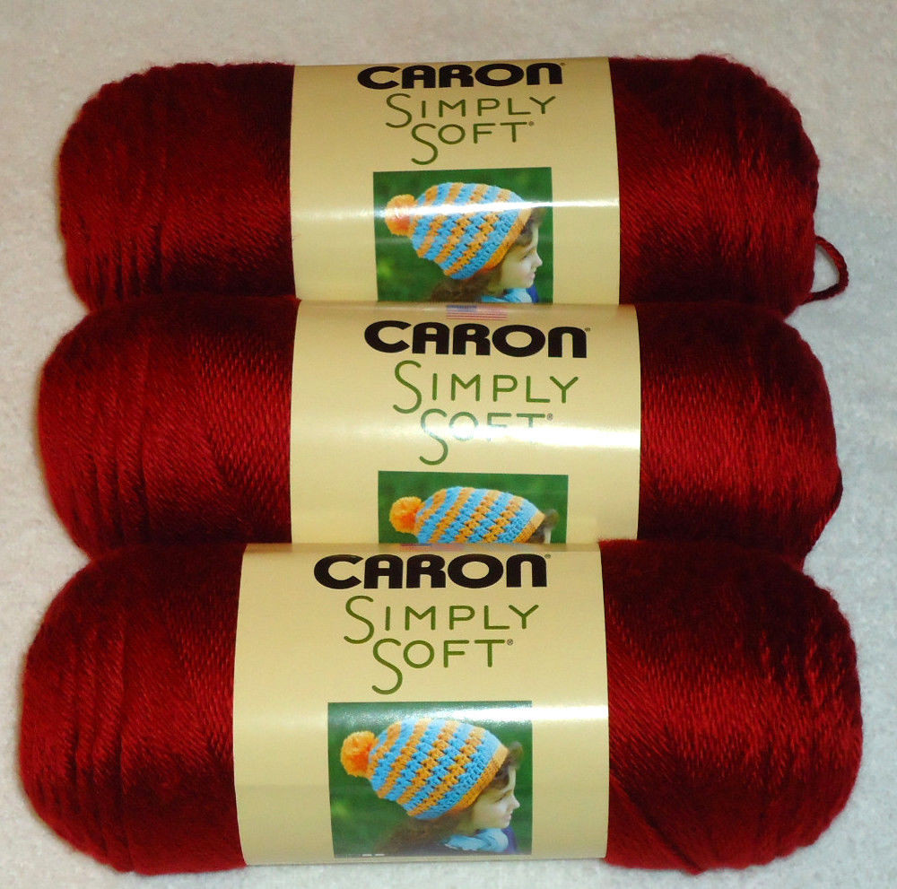 Caron Simply soft Unique Caron Simply soft Yarn Lot 3 Skeins Autumn Red 9730 Of Amazing 46 Images Caron Simply soft