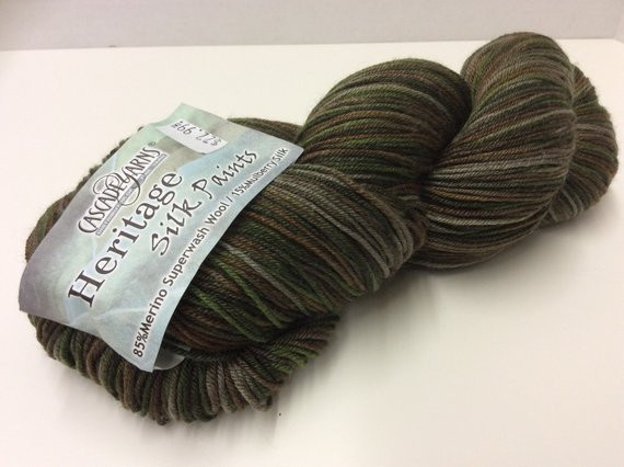 Sock Yarn Cascade Yarns Heritage Silk by VintageScrapNStitch