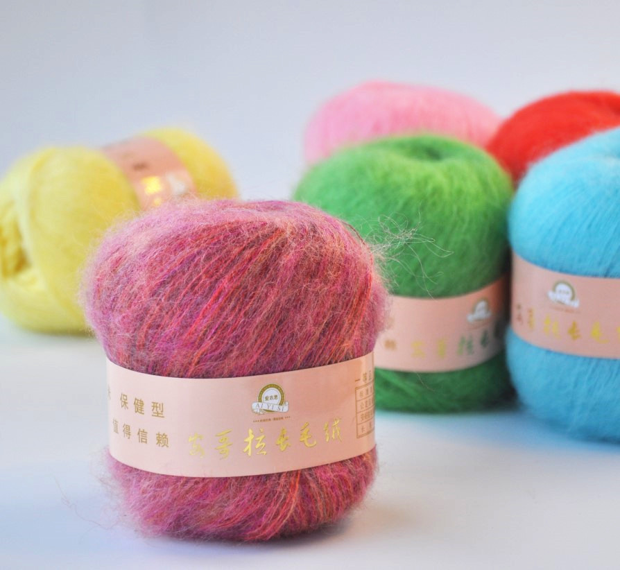 SALE 50g ball Angola Mohair Cashmere Wool Yarn Skein For