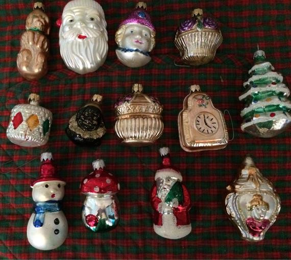 Christmas Ornaments Vintage 13 Character Ornaments by