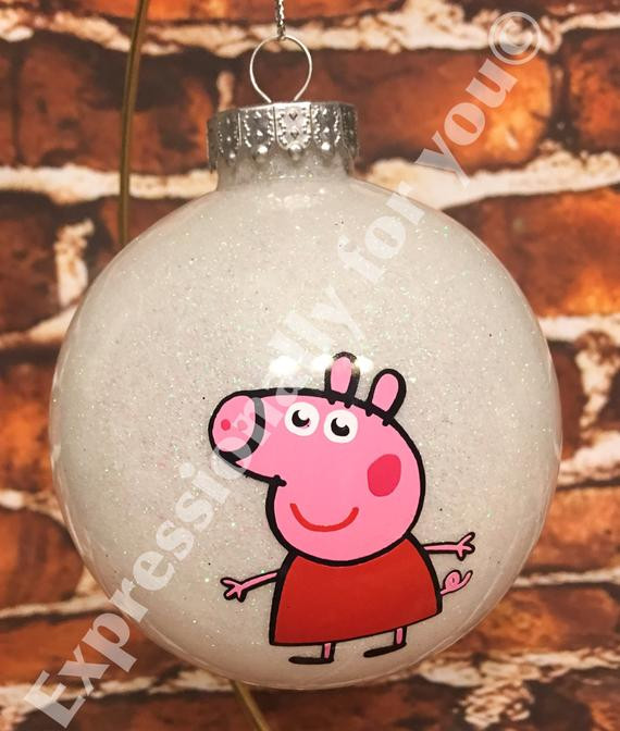 Character Christmas ornaments Lovely Peppa Pig Character Glitter Personalized Christmas ornament Of Great 37 Photos Character Christmas ornaments