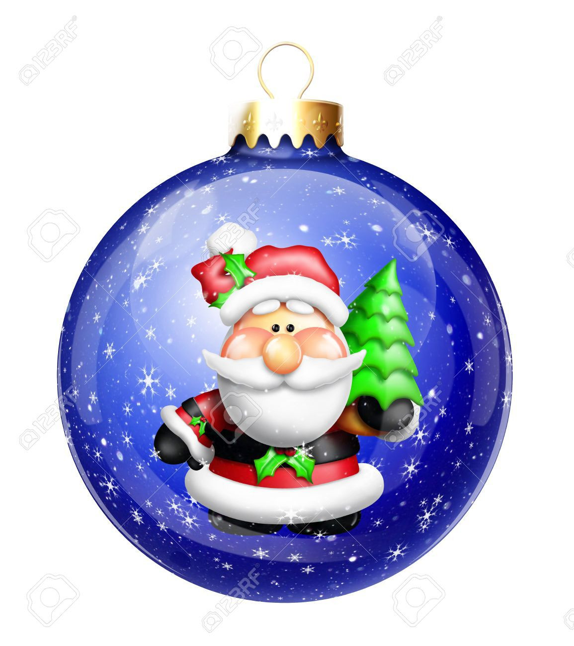 Christmas decorations clipart cartoon collection