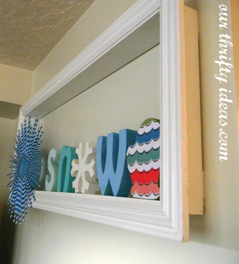 Make a decorative shelf for cheap Our Thrifty Ideas