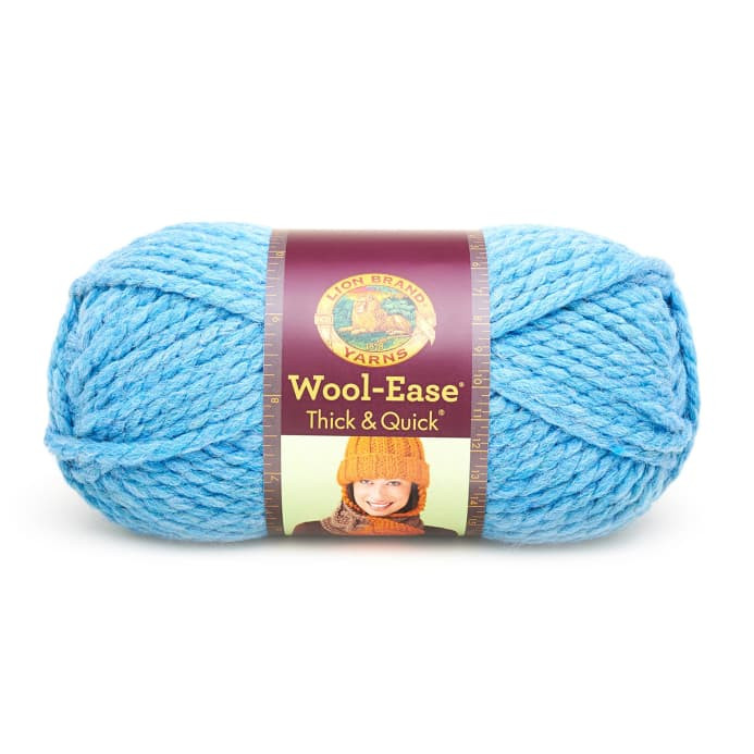 Cheap Super Bulky Yarn Awesome Lion Brand Wool Ease Thick & Quick Yarn 106 Sky Blue Of Brilliant 48 Models Cheap Super Bulky Yarn
