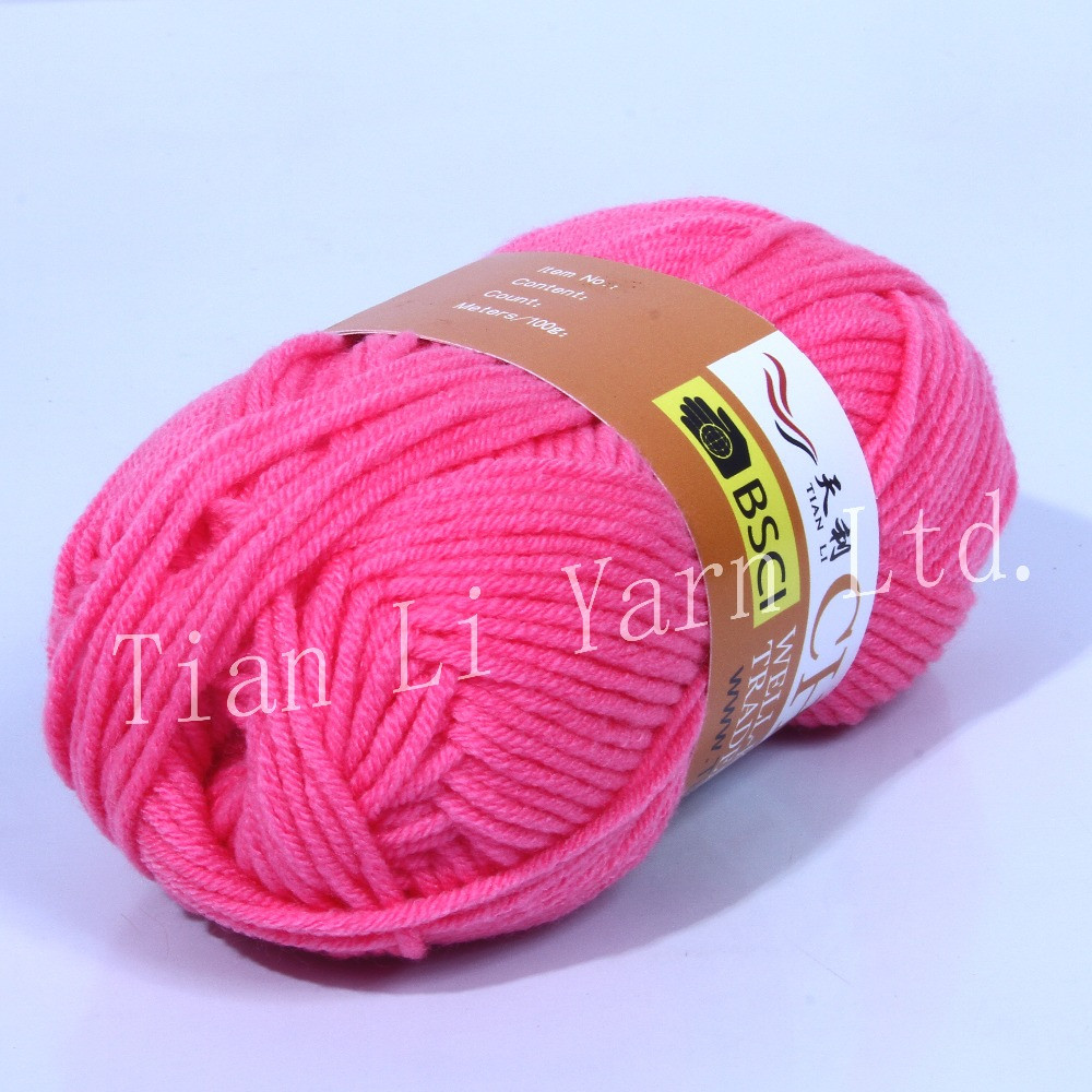 100 Acrylic Yarn Soft Yarn Cheap Yarn Hand Knitting Yarn