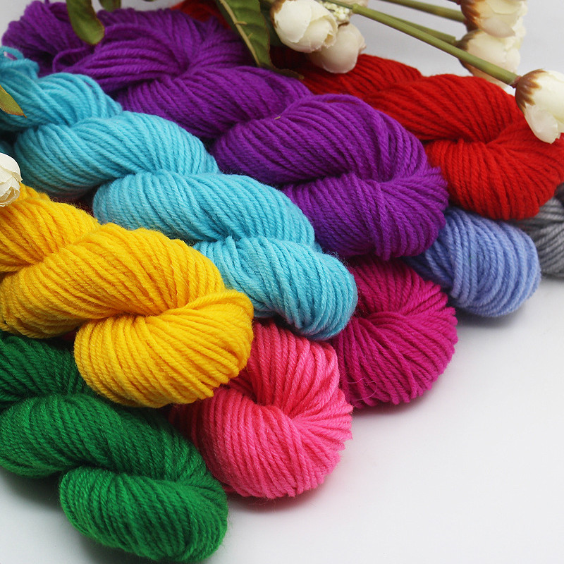 DIY Crafts Cheap Yarn 10 Skeins Mix Colors Acrylic Yarn