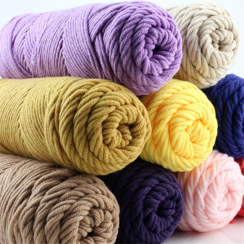 Wholesale 5 Balls 500g Knitting Yarn Baby Cotton Silk Wool