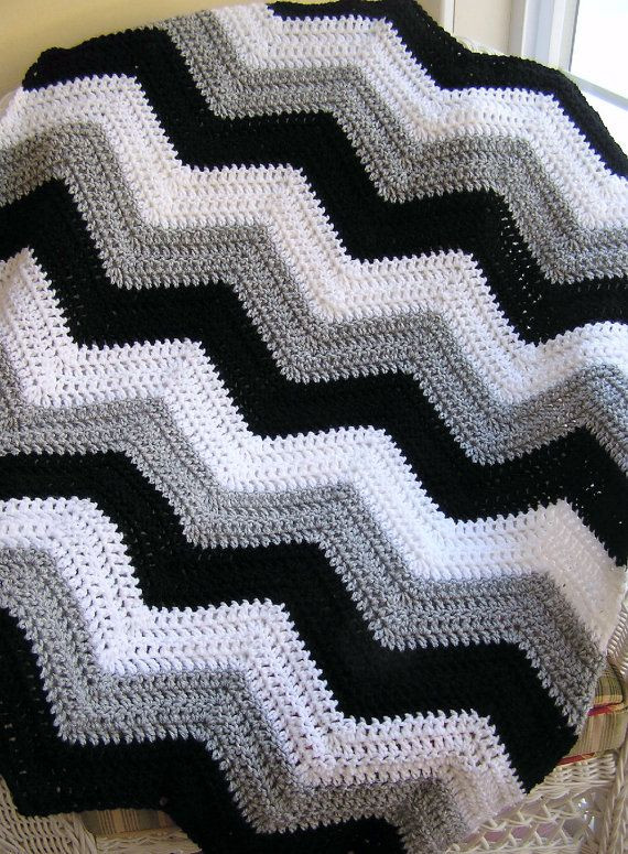 Chevron Afghan Pattern Inspirational New Chevron Zig Zag Baby Blanket Afghan Wrap Crochet Knit Of Top 40 Ideas Chevron Afghan Pattern