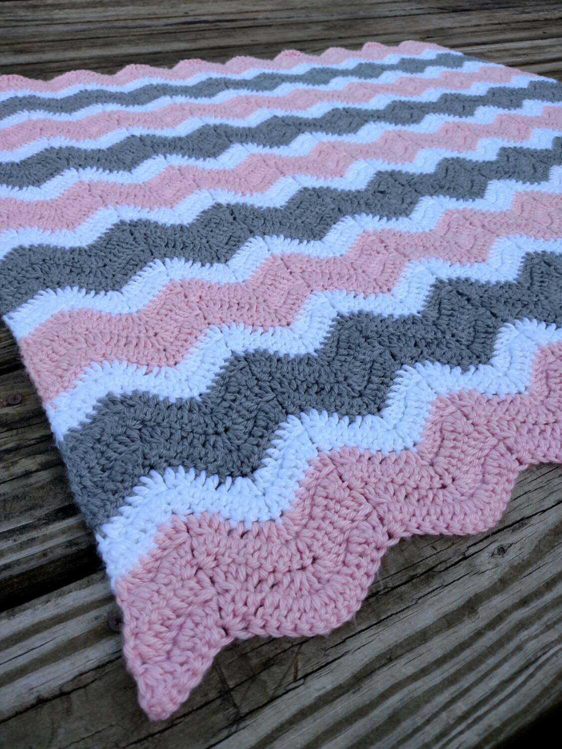 Chevron Baby Blanket Elegant Pink and Gray Crochet Chevron Baby Blanket Hand Made Ripple Of Attractive 49 Pics Chevron Baby Blanket