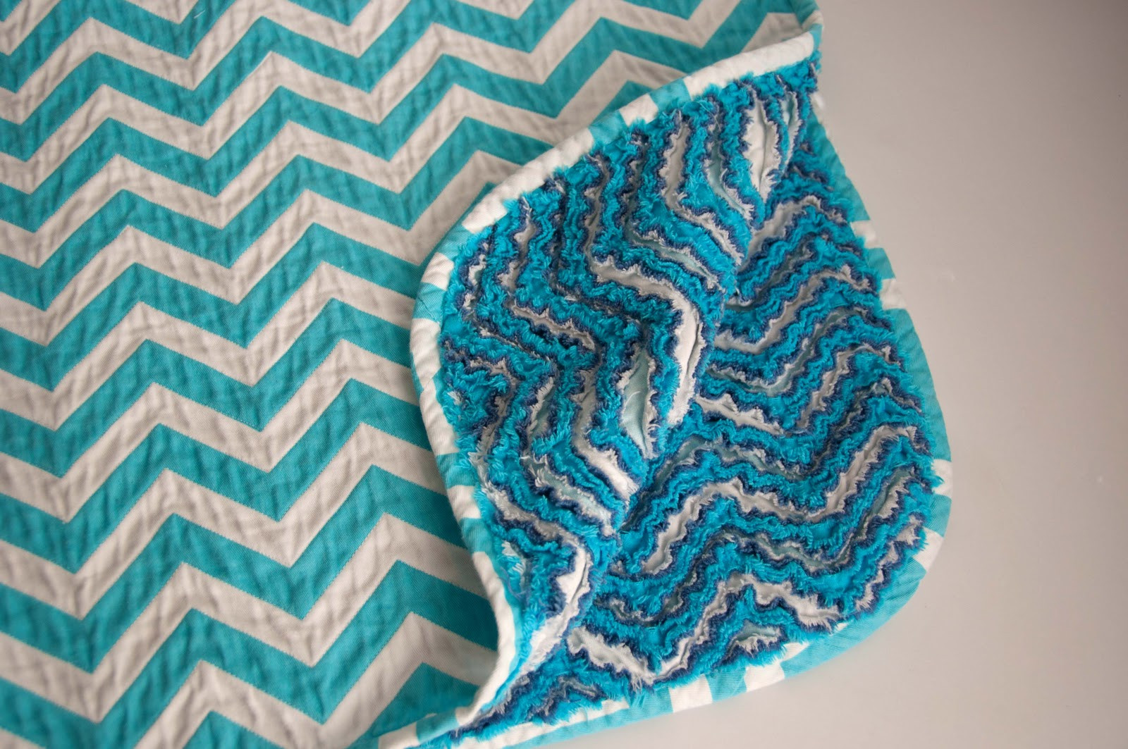 Aesthetic Nest Sewing Chevron Chenille Baby Blanket