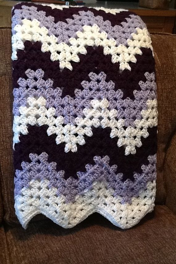 Chevron Crochet Afghan Best Of Crochet Blanket Afghan Chevron Granny Ripple Purple and Of Charming 41 Models Chevron Crochet Afghan