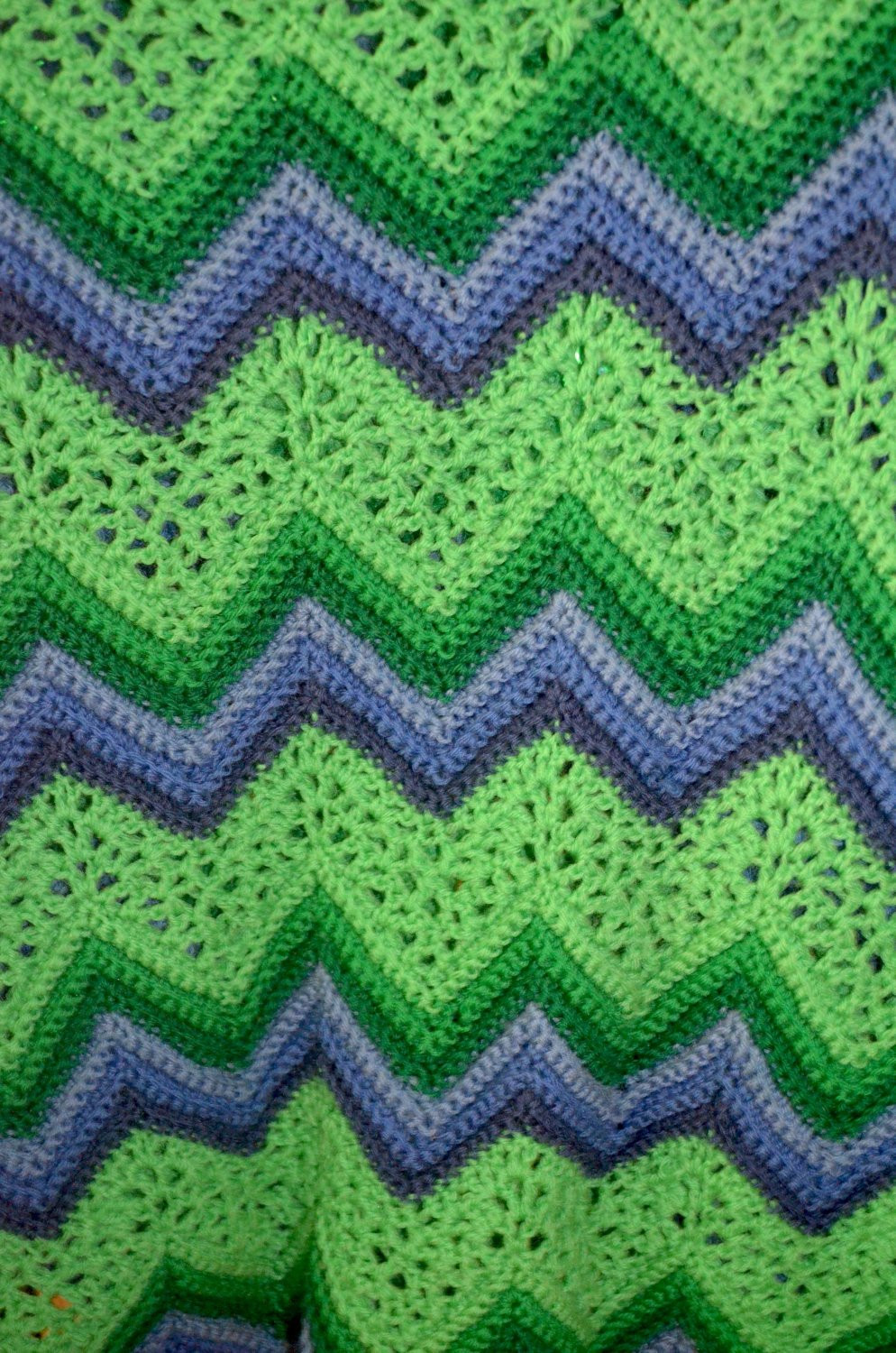 Chevron Crochet Afghan New Vintage Handmade Afghan Crochet Chevron Ripple Green and Of Charming 41 Models Chevron Crochet Afghan