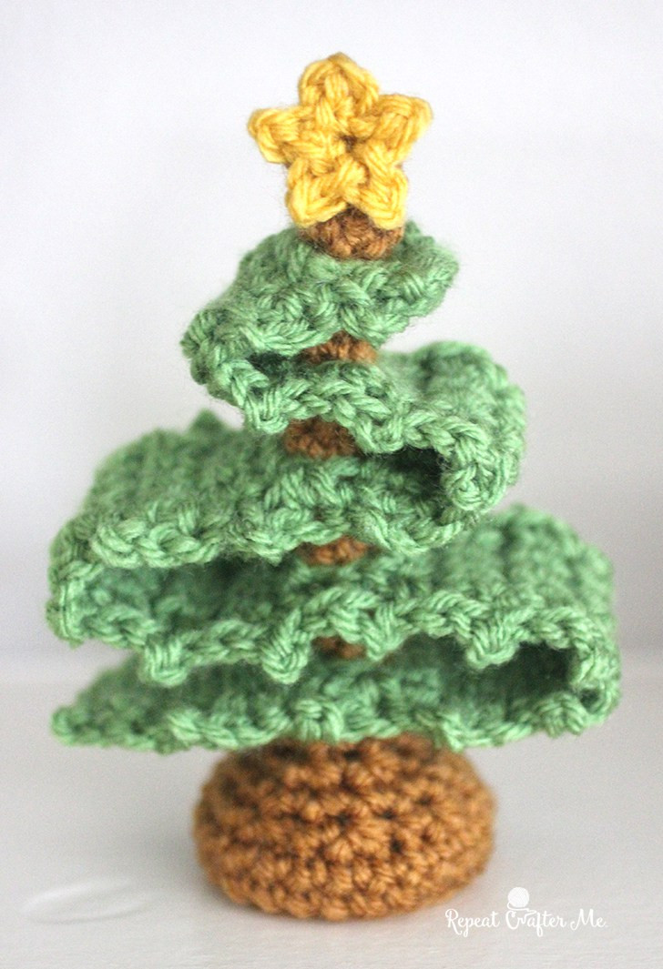 Christmas Crochet Patterns Best Of 3d Crochet Christmas Tree Repeat Crafter Me Of Brilliant 49 Ideas Christmas Crochet Patterns