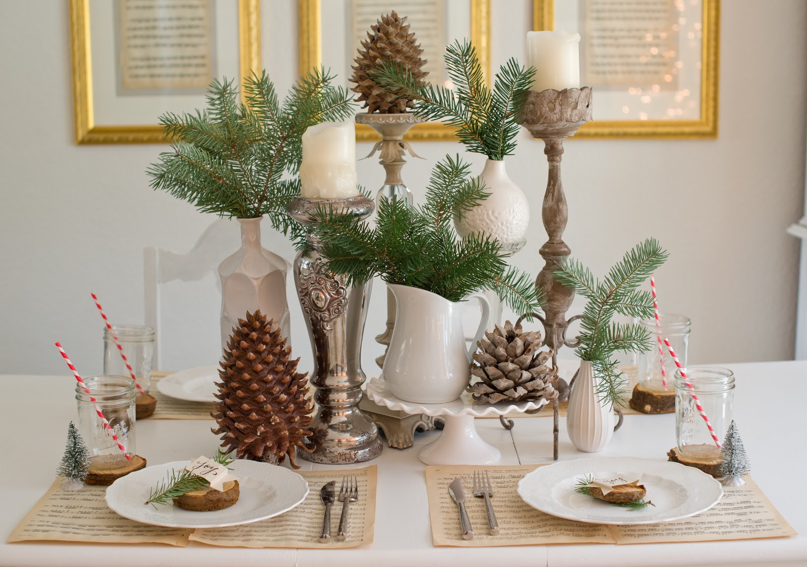Christmas Decoration Ideas Best Of Domestic Fashionista Natural Christmas Tablescape Of Amazing 45 Photos Christmas Decoration Ideas