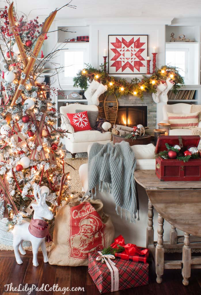 Christmas Decorators Awesome Cozy Ski Lodge Inspired Christmas tour the Lilypad Cottage Of Christmas Decorators New 46 Beautiful Christmas Porch Decorating Ideas — Style Estate