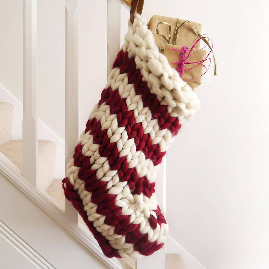 Christmas Knitting Best Of Chunky Hand Knitted Christmas Stocking by Lauren aston Of Attractive 41 Models Christmas Knitting