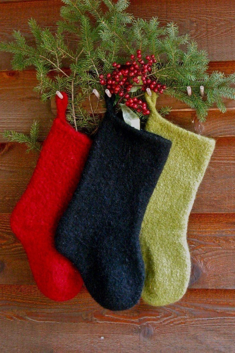 Christmas Knitting Elegant Felted Christmas Stocking Instant Download Knitting Pattern Of Attractive 41 Models Christmas Knitting