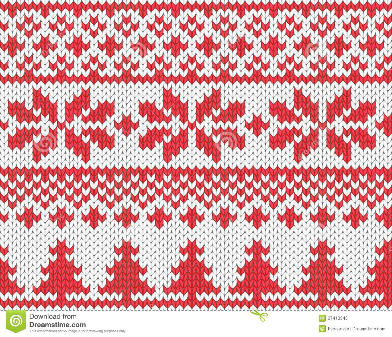 Christmas Knitted Background Stock Vector Illustration