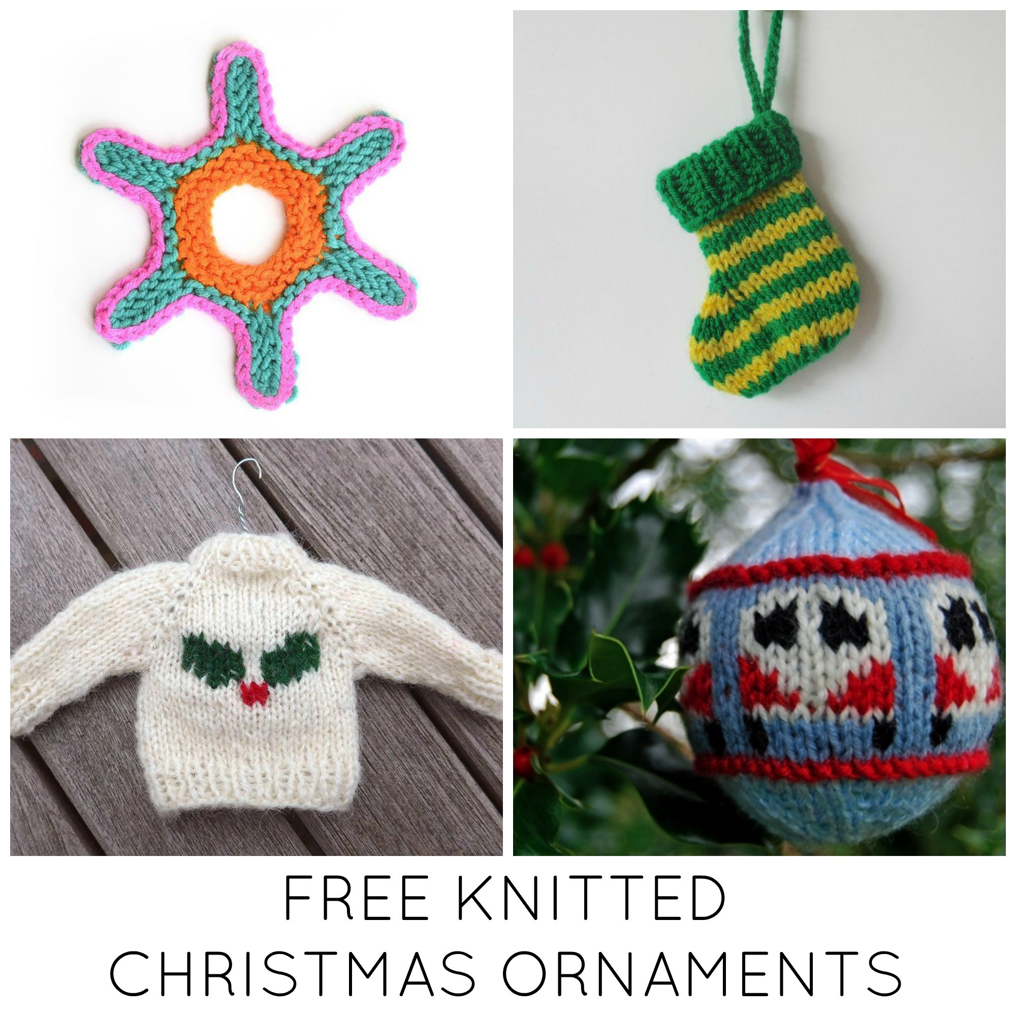 Christmas Knitting Patterns Fresh 11 Festive & Free Knitted Christmas ornaments Of Contemporary 44 Pics Christmas Knitting Patterns