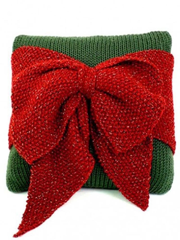 Christmas Knitting Patterns New Knitting Pattern Christmas Big Bow Cushion Cover Easy Of Contemporary 44 Pics Christmas Knitting Patterns