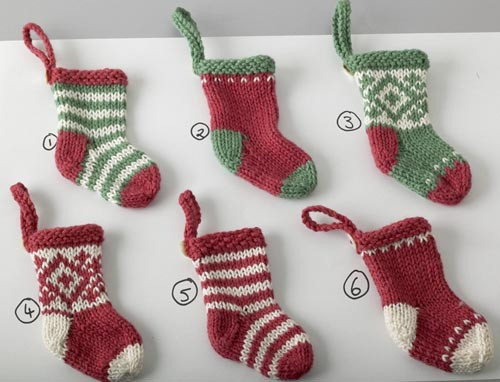 Christmas Knitting Unique Elins Kreative Side Knitted Mini Christmas Stockings Of Attractive 41 Models Christmas Knitting