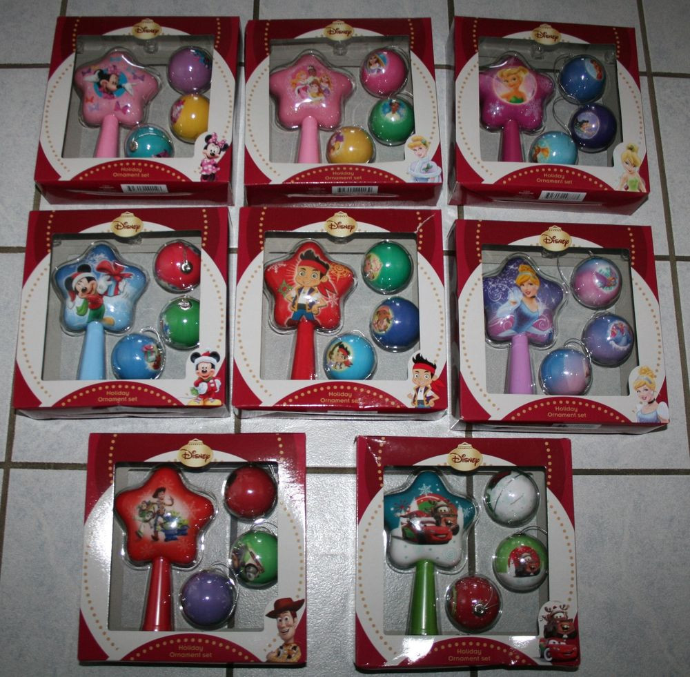 Christmas ornament Sets New New Disney Holiday ornament Set Tree topper W 3 ornaments Of Fresh 41 Models Christmas ornament Sets