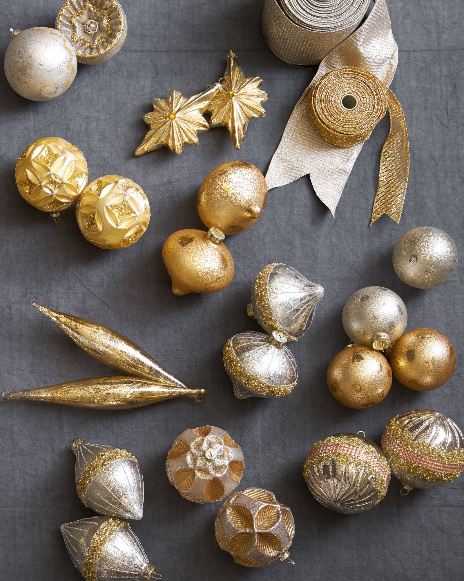 Christmas ornament Sets New Silver & Gold Glass Bauble Set Of Fresh 41 Models Christmas ornament Sets