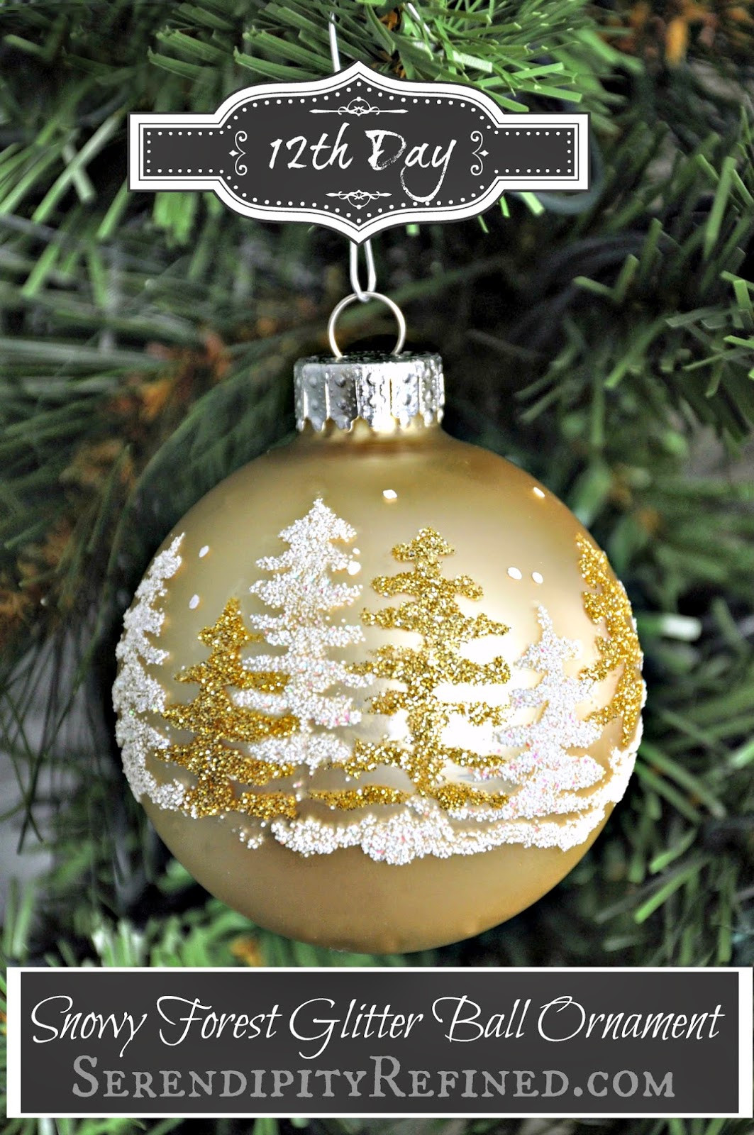 Christmas ornaments to Make Elegant Serendipity Refined Blog Snowy forest Glitter Ball Of Delightful 43 Images Christmas ornaments to Make