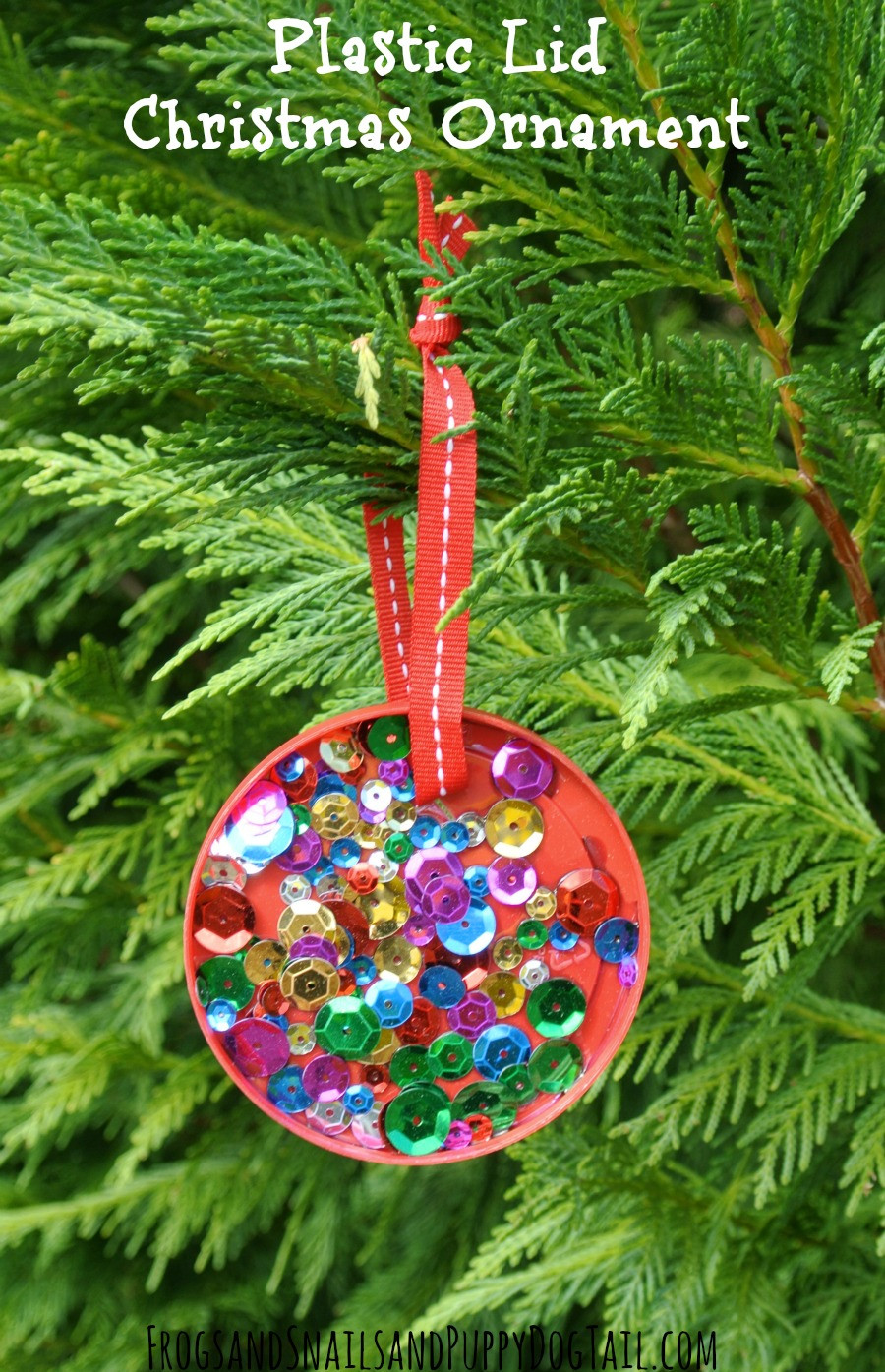 Christmas ornaments to Make Lovely Plastic Lid Christmas ornament Perfect for Kids to Make Of Delightful 43 Images Christmas ornaments to Make