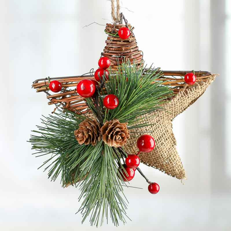 Christmas ornaments to Make New Rustic Burlap and Grapevine Star ornament Christmas Of Delightful 43 Images Christmas ornaments to Make