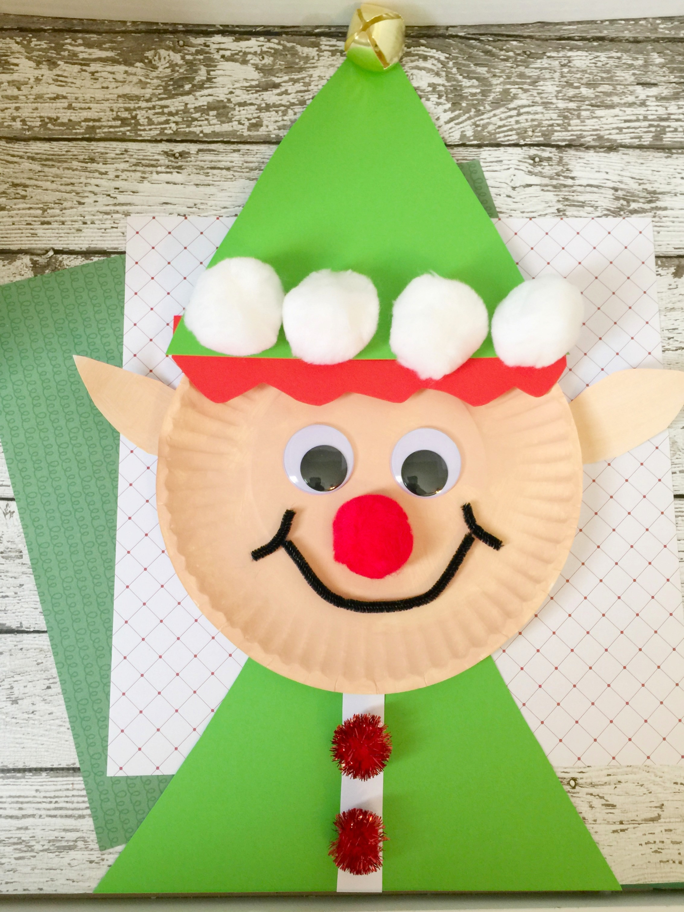 Christmas Paper Crafts Awesome Christmas Elf Paper Plate Craft for Kids Of Adorable 49 Pictures Christmas Paper Crafts
