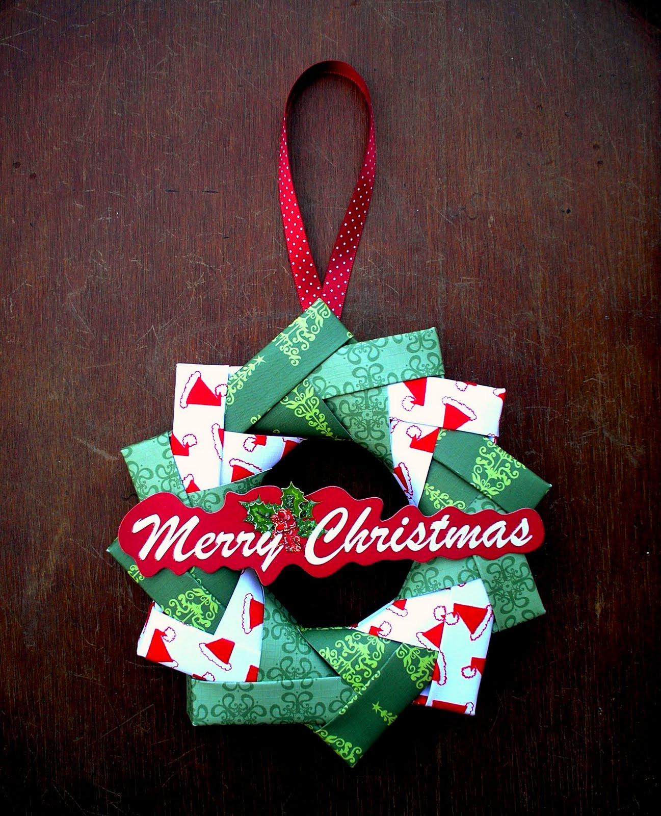 Christmas Paper Crafts Beautiful Artfull Crafts Sandy origami Wreath Tutorial Of Adorable 49 Pictures Christmas Paper Crafts