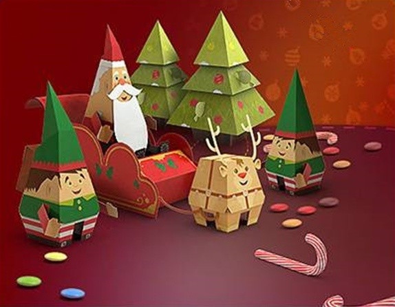 Christmas Paper Crafts Lovely Christmas Paper Craft Of Adorable 49 Pictures Christmas Paper Crafts