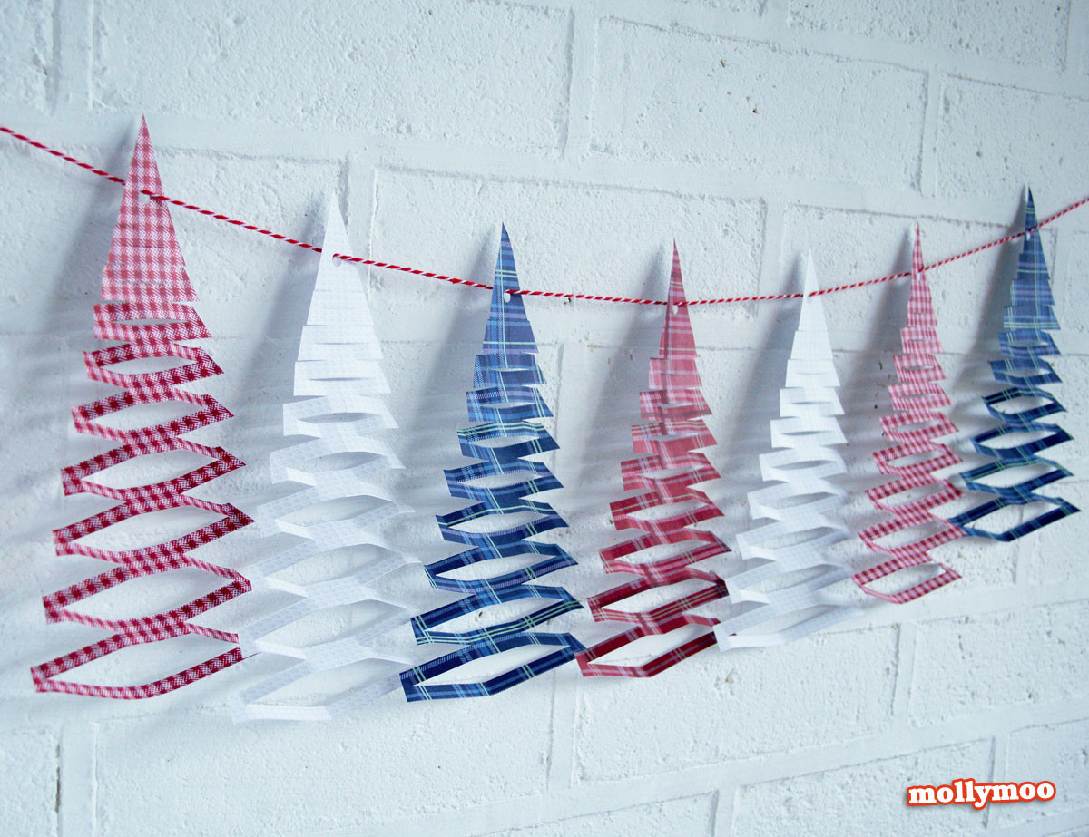 Christmas Paper Crafts New Mollymoocrafts Free Printables Christmas Tree Garland Of Adorable 49 Pictures Christmas Paper Crafts