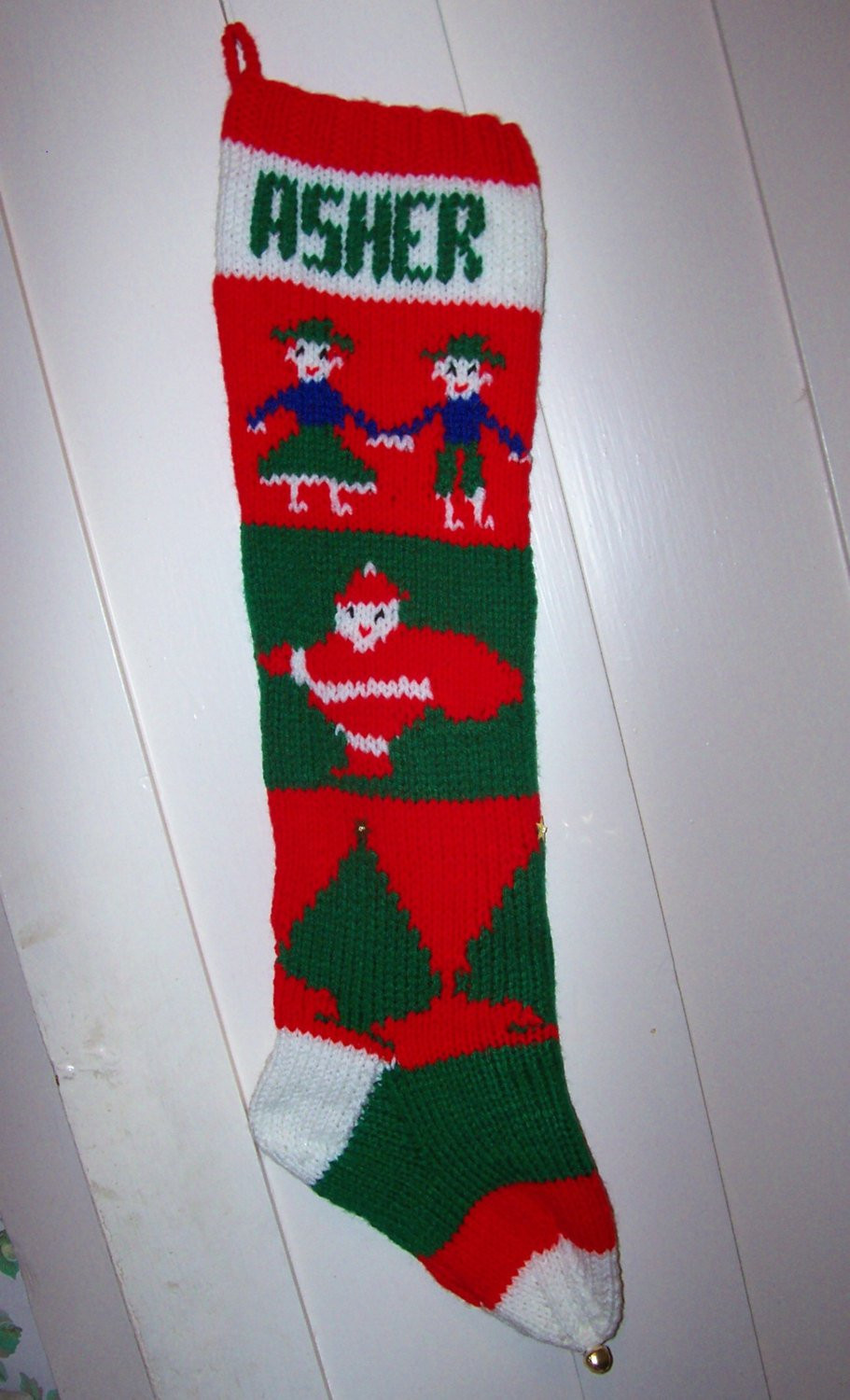 Christmas Stocking Knitting Pattern Awesome 2016 Hand Knit Christmas Stocking Old Pattern Children Santas Of Marvelous 40 Pictures Christmas Stocking Knitting Pattern