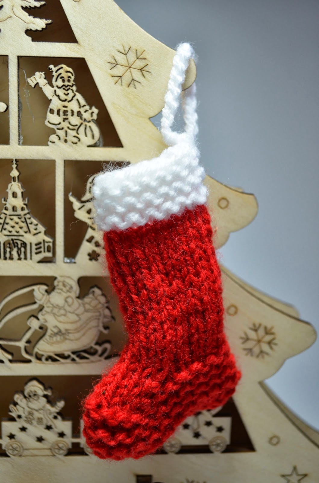 crafternoon garden Knitted Christmas Stocking