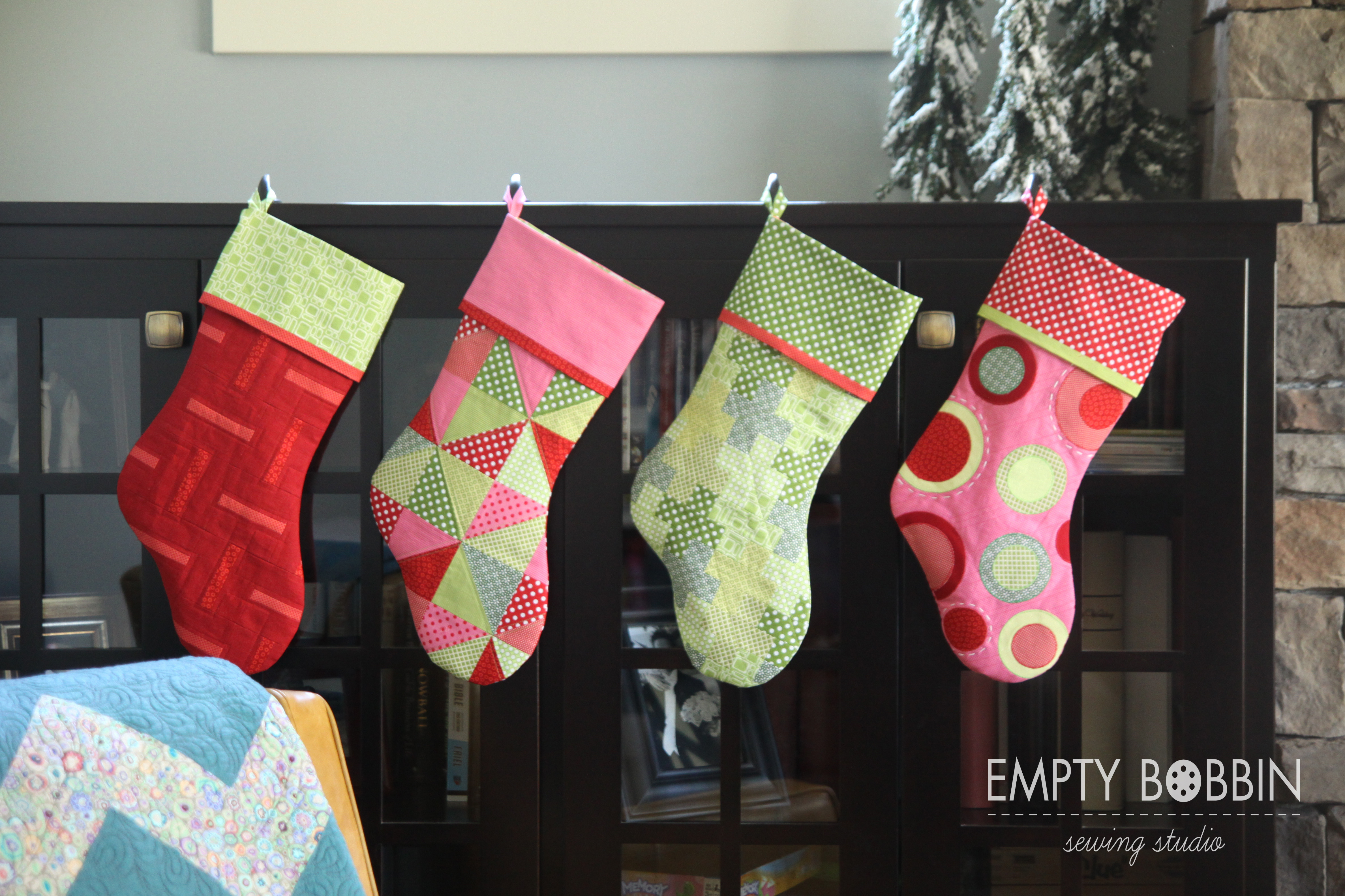 Christmas Stocking Pattern Awesome Christmas Stockings In July Empty Bobbin Sewing Studio Of Amazing 47 Ideas Christmas Stocking Pattern