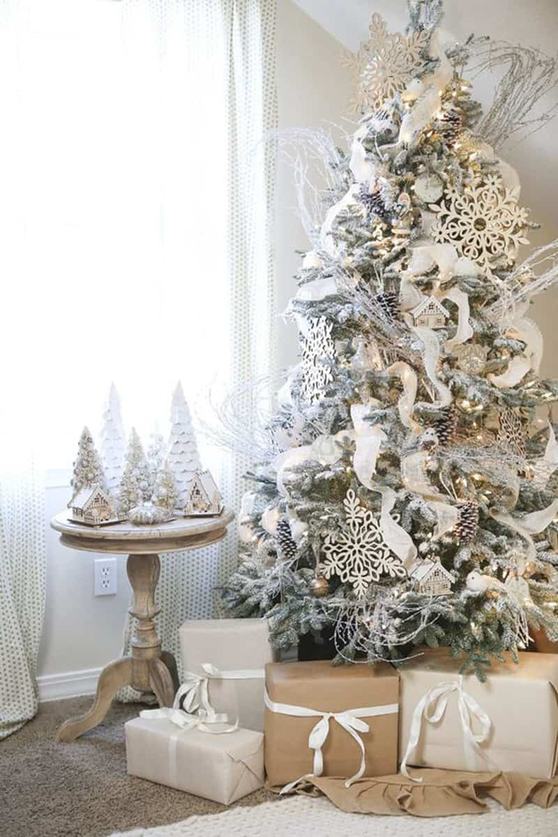 Christmas Tree Decorations Beautiful Beautiful Ideas to Deck Up Your Frosted Christmas Tree Of Superb 49 Pics Christmas Tree Decorations