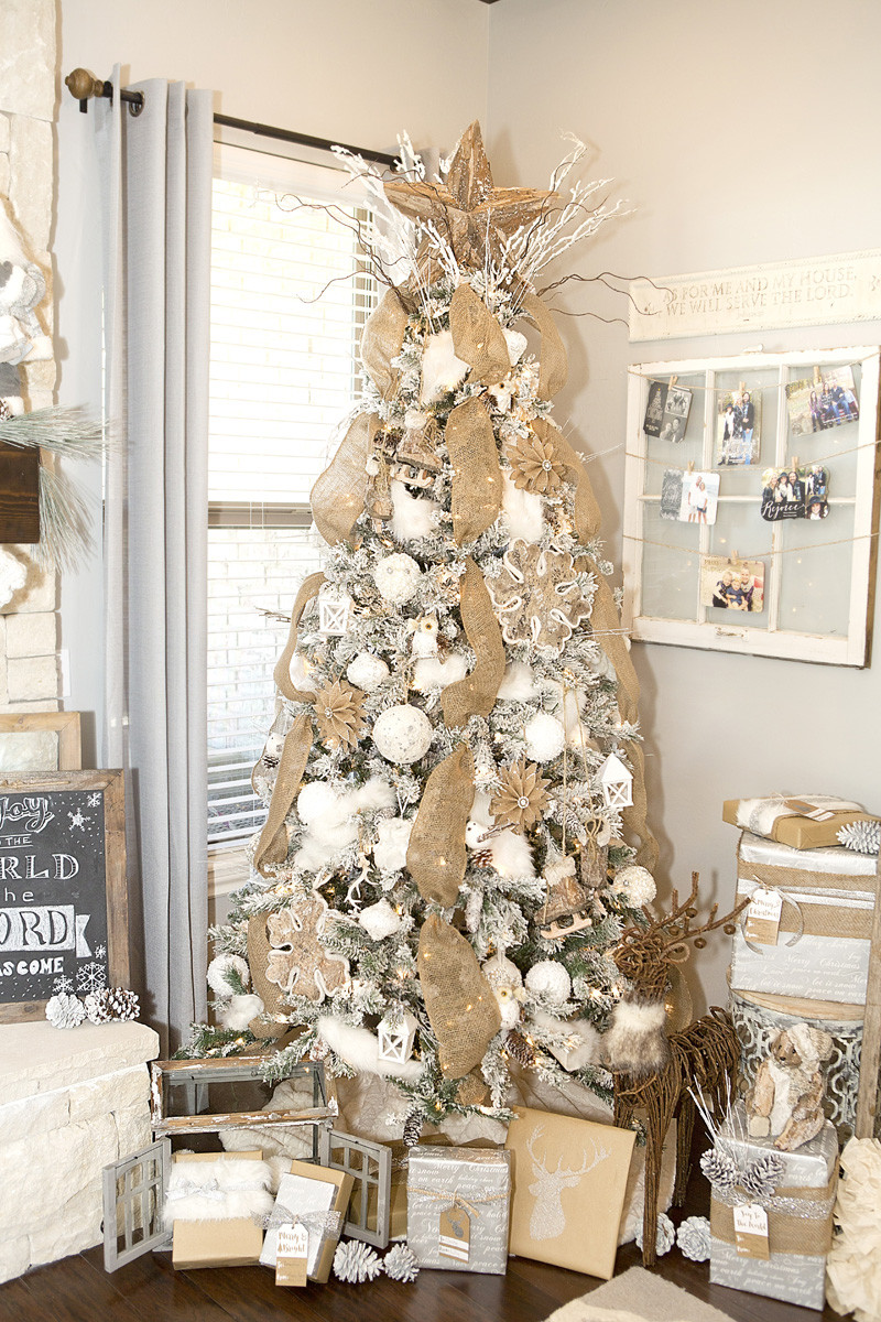 Christmas Tree Decorations Best Of Farmhouse Christmas Decor with A Neutral Christmas Tree Of Superb 49 Pics Christmas Tree Decorations