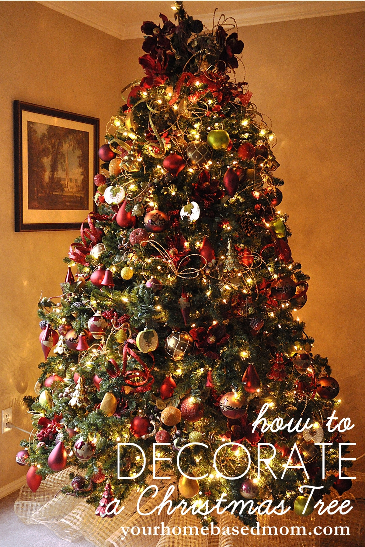 Christmas Tree Decorations Inspirational How to Decorate A Christmas Tree Tutorial Of Superb 49 Pics Christmas Tree Decorations