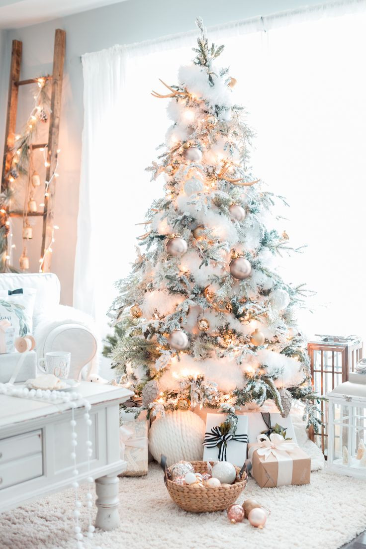 Christmas Tree Decorations Lovely Gold White Christmas Tree Christmas Home Christmas Of Superb 49 Pics Christmas Tree Decorations