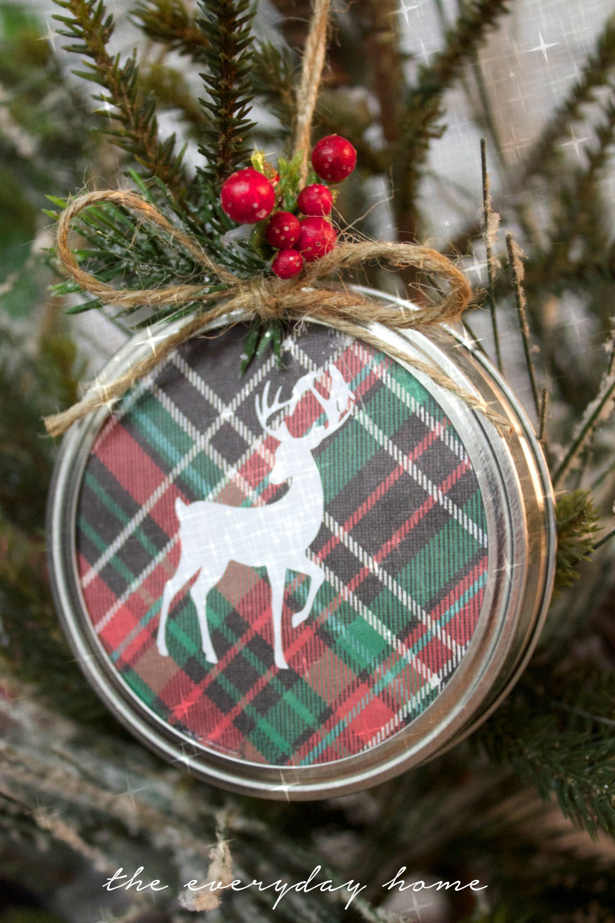 Christmas Tree ornaments to Make Awesome Diy Mason Jar Lid Christmas ornament the Everyday Home Of Amazing 45 Images Christmas Tree ornaments to Make