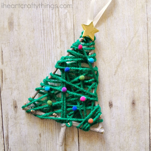 Christmas Tree ornaments to Make Best Of Yarn Wrapped Christmas Tree Twig ornament Of Amazing 45 Images Christmas Tree ornaments to Make